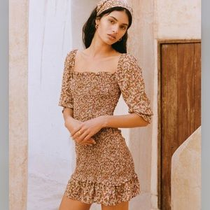 Faithfull Mini Ruched Dress - sz 6US